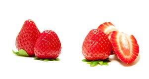 Échantillonneur frais de fraise Photographie stock