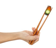 Échantillonneur Ikura de sushi Image stock