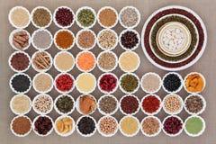 Échantillonneur sec de nourriture biologique Photo stock