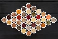 Échantillonneur sec de nourriture biologique Photos stock