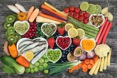 Échantillonneur superbe sain de nourriture photos stock