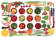 Échantillonneur superbe sain de nourriture Image stock