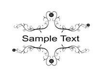 Échantillonnez le texte Photographie stock