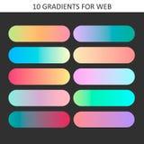 Échantillons à la mode de gradient Palettes de collection des échantillons de gradient pour des affaires infographic, media socia Photos libres de droits
