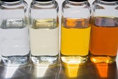Échantillons 2 de pétrole Images stock