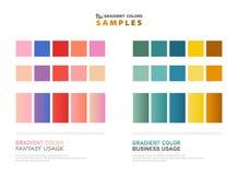 Échantillons abstraits de gradient de thème de couleur pour l'utilisation illustration libre de droits