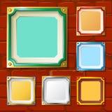 Échantillons carrés de cadre Photo libre de droits