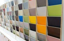 Échantillons colorés d'en bois Photographie stock libre de droits