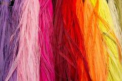 Échantillons colorés de tissu Images libres de droits