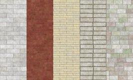 Échantillons concrets de briques illustration de vecteur