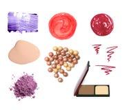 Échantillons cosmétiques décoratifs Image stock