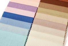 Échantillons d'échantillon de tissu Photographie stock