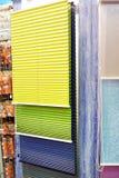 Échantillons d'abat-jour et de rideaux dans le magasin Photo libre de droits