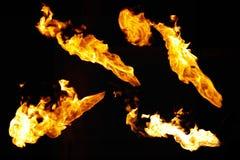 Échantillons d'incendie Photographie stock