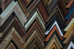 Échantillons de cadre de tableau photographie stock