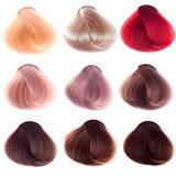Échantillons de cheveu Photo stock