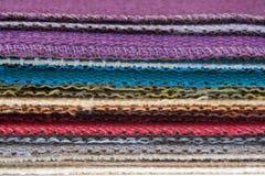 Échantillons de coton Photos stock