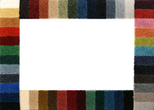 Échantillons de couleur d'un revêtement de tapis image libre de droits