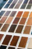 échantillons de couleur en stratifié et en bois Photographie stock libre de droits