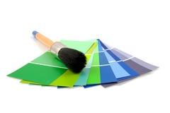 Échantillons de couleur pour la peinture Images libres de droits