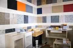 Échantillons de divers types de marbre Photo libre de droits