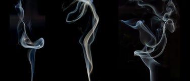 Échantillons de fumée Images stock
