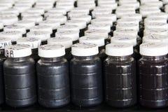 Échantillons de huile usée photographie stock libre de droits