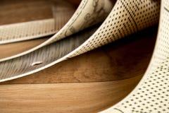 Échantillons de linoléum Coupure et pose des revêtements de sol image libre de droits