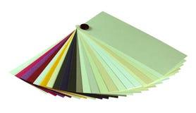 Échantillons de papier de ventilateur. Images libres de droits