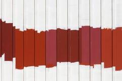 Échantillons de peinture extérieure de rouge Photos libres de droits