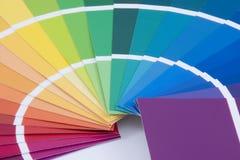 Échantillons de peinture - haut proche Images stock