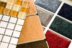 Échantillons de plancher Photographie stock