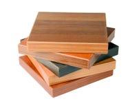 Échantillons de plancher en bois images stock