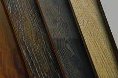 Échantillons de plancher en bois de texture de carrelage de stratifié et de vinyle sur W images libres de droits