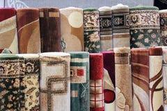 Échantillons de revêtements de tapis Photos stock
