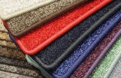 Échantillons de tapis Photographie stock libre de droits