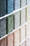 Échantillons de tapis Images stock