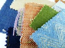 Échantillons de tissu dans des tons frais Image stock