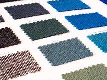 Échantillons de tissu de tapisserie d'ameublement Photographie stock