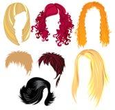 Échantillons de type de cheveu Images libres de droits