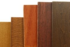 Échantillons en bois d'abat-jour bien choisis photographie stock