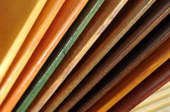 Échantillons en bois de peinture Image libre de droits