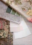 Échantillons en pastel et floraux Photos stock