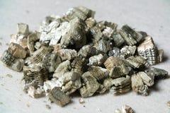 Échantillons minéraux de vermiculite pour la production Image libre de droits