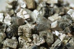 Échantillons minéraux de vermiculite pour la production Images libres de droits