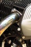 Échappement B de moteur de motocyclette Photo libre de droits