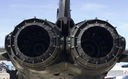 Échappement d'avion à réaction Photographie stock libre de droits