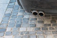 Échappement d'une voiture diesel Image libre de droits