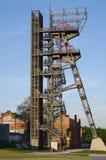 Échappement de tour la mine de charbon Katowice Photographie stock