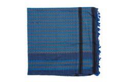 Écharpe arabe bleue d'isolement sur le fond blanc Photo libre de droits